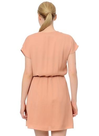 Asymmetry Elbise Pudra